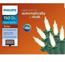 Philips 150ct Christmas Solar Mini LED String Lights Warm White