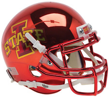 IOWA STATE CYCLONES NCAA Schutt XP Authentic MINI Football Helmet (CHROME)