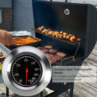 7.6cm Outdoor Stainless Steel BBQ Oven Thermometer Temp Gauge for Home Outdoor
