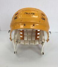 Vintage Rare Cooper SK600 Ice Hockey Helmet size Junior Yellow/gold jr vtg