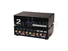 2x1 2-Port AV Video Audio RCA (Red/White/Yellow) Composite Switch 2-Way Switcher