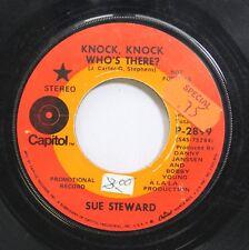 Hear! Rock Promo 45 Sue Steward - Knock Knock Whos There? / Lovin Blues On Capit