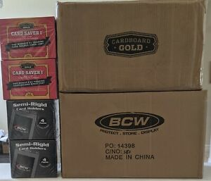 BCW Semi-Rigid 1 or Cardboard Gold Card Saver 1 box (200 Card Holders)