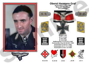 aviation art Luftwaffe pilot Hermann Graf JG 52 Knights Cross WW2 photo print