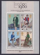 Great Britain 874a Mnh 1979 London 1980 Stamp Expo Rowland Hill Souvenir Sheet
