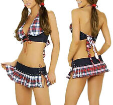 Sexy Women School Girl Uniform Outfit Fancy Dress Lingerie Cosplay Costume USA