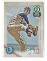 2018 Topps Gypsy Queen Baseball Legend short print high number #320 Sandy Koufax