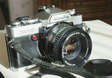 Minolta XG-9 + objectif MD ROKKOR 50 mm / 1.7  (1ère Génération) + flash 132 X