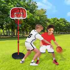 160CM Adjustable Portable Basketball Net Hoop Backboard Stand Set Youth Kids