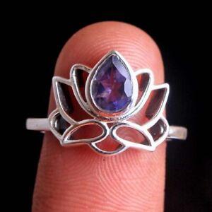 Iolite Gemstone 925 sterling Silver Jewelry Handmade designer Ring Size US 7.25