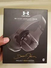 BRAND NEW Armour Project Rock Edition Headphones Sport Wireless Train - Black