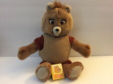 Vintage Teddy Ruxpin Teddy Bear Backpack For Parts Only Not Working