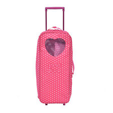 """18"""" Doll Travel Carrier Trolley Case With Bed And Bedding Girls Christmas Gift"""