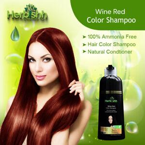 500ML HERBISHH COLOR SHAMPOO HERBAL HAIR COLOR DYE AMMONIA FREE WINE RED