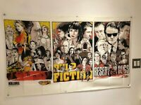 KILL BILL PULP FICTION RESERVOIR DOGS Quentin Tarantino Movie Poster Flag Banner