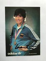 Autogramm CORNELIA HANISCH-Fechten-80er-Olympia 1984-Weltmeisterin-adidas-AK5
