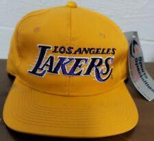 Vtg Los Angeles Lakers Sports Specialties Motion Snapback Hat NBA 90s Yellow Cap