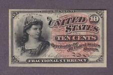 1869-75 10¢ BEAUTIFUL UNCIRCULATED LADY LIBERTY Fractional!