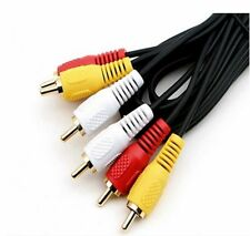 AV Cable 3rca 3 RCA Male Audio Video Cord Composite Yellow/red/white TV DVD