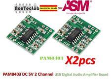 2pcs PAM8403 Audio Module Class-D Digital Amplifier Board USB Power 2.5 to 5V
