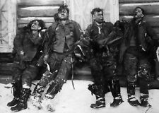 WW2  Photo WWII  Dead German Luftwaffe Bomber Crew Russia  World War Two / 2452R