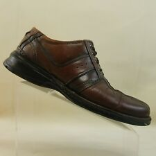 Clark's Mens Brown Leather Two Tone Oxford Casual Shoes Size  12 M #F66