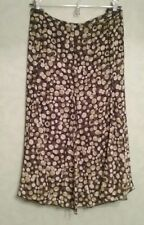 Hearts Of Palm skirt size 14 Womens Brown & Green Dots