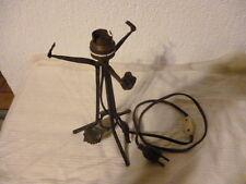 pied de lampe fer forgé art déco