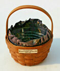 Longaberger Discovery Basket with Blue Ship Liner & Plastic Protector 1992