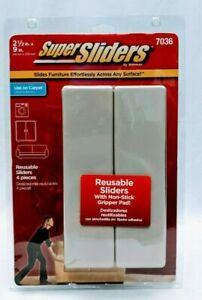"Super Sliders By Waxman 4 Reusable 2 1/2""X9"" #7036 Furniture Sliders"