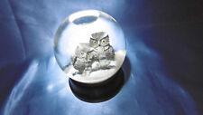 chouettes en boule a neige gros modele