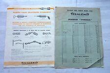 POMPES POUR GRAISSEURS HYDRAULIC & TARIF 1938   Réf 4