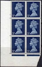 1968 5d ROYAL BLUE SG 735 CYL 1  no dot spec U17  MNH perf A -HEAD A -machin