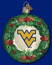 Old World Christmas Wvu Wreath Ornament 63609 - 29
