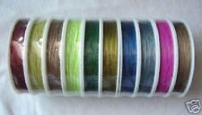 10 Rolls of Mixed Colour Tiger Tail Nylon Coated Beading wire .38mm