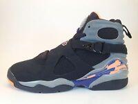 Nike Air Jordan 8 VIII Retro GS Black Citrus Orange Cool Grey Suns 305368-043 5
