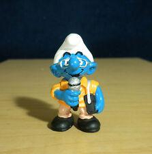 Smurfs News Reporter Smurf Sports Correspondent Vintage Toy PVC Figure Lot 20478