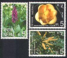 Nepal 2000 Flowers/Orchids/Magnolia/Plants/Nature/Conservation 3v set (n38816)