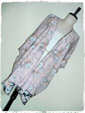 Speed Limit MPH Bohemian Boho Pink Multi Floral Print Border Kimono Cardigan 1X
