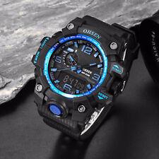 Men's Boy Digital Quartz Watch Blue LED Backlight Army Military Sport WristWatch