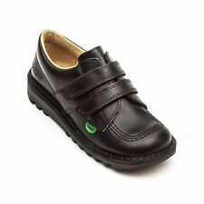 Kickers Kick Lo Vel Boys' School Shoes-Black-Size-10 -UK (28  EU) New £29.99