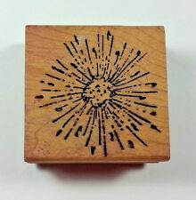 Dry Dandelion Pollen Magenta Rubber Stamp I0243 Flower Summer Weed
