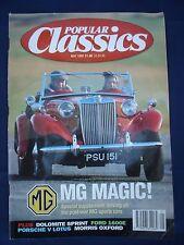 Popular Classics magazine - May 1992 - MG - Porsche - Lotus - Ford 1600E