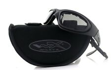 New WILEY X SG-1 Interchangeable Matte Black Smoke Grey Clear SUNGLASSES 71