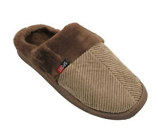 New Mens Fleece Lined Slip On Warm Gents Indoor House Luxury Gents Slippers UK