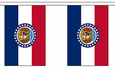 MISSOURI U.S. STATE BUNTING 9 metres 30 flags Polyester flag