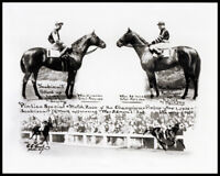 SEABISCUIT & WAR ADMIRAL SHARP 8X10 MATCH RACE HORSE RACING PHOTO!