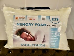 PILLOW MEMORY FOAM COOL TOUCH x4 FIRM NECK SUPPORT - Price Reduced by 50%