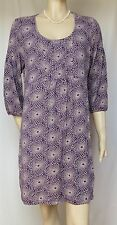 Jersey-Kleid Boden 42 44 retro lila Blumen Tunika Shirtkleid Sommer