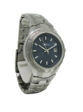 Fossil PR1689 Men's Navy Blue Round Analog Date Stainless Steel Watch